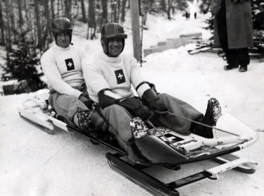 Links Sam Dunlop.Olympische spelen.