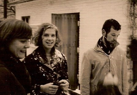 Winterwandeling. Heldine, Trudie en Baas.