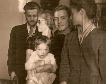 Sam, Bram, Trudie en Elke.