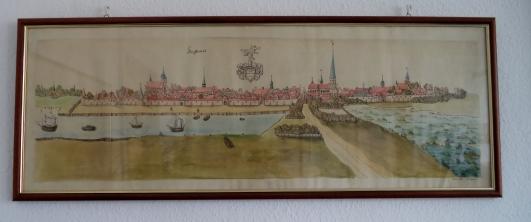 Prent die in het archief van Greifswald hing.
