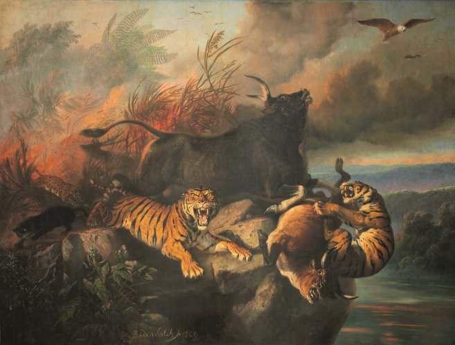 Boschbrand van Raden Saleh