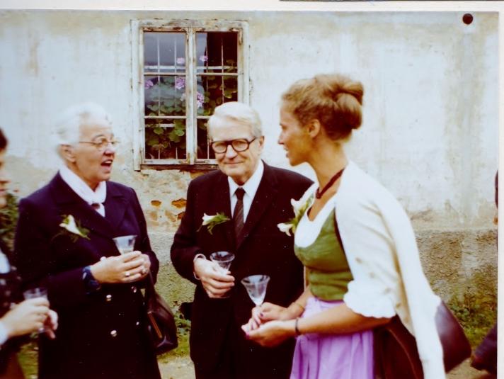 Mijn ouders en Elke.