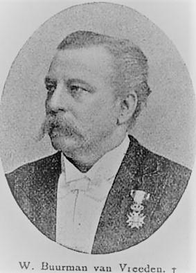 portret Willem Buurman van Vreeden. 1841-1906. - kopie
